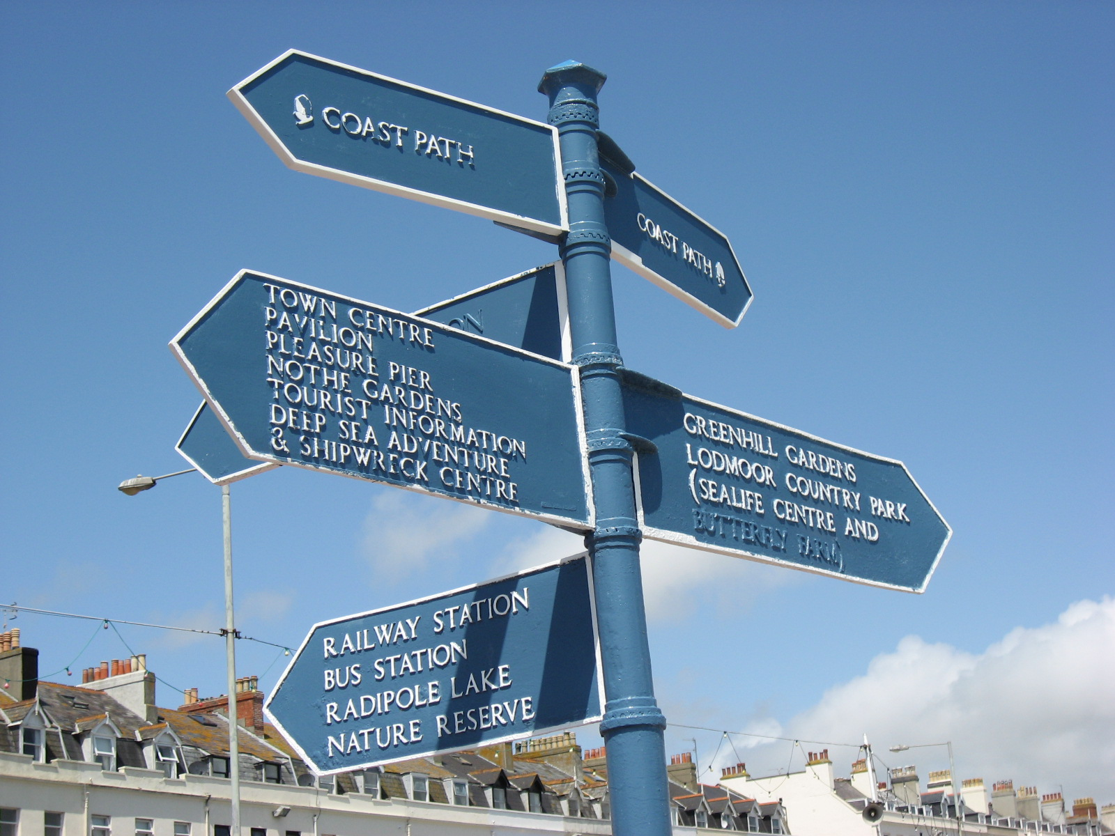 signpost on front