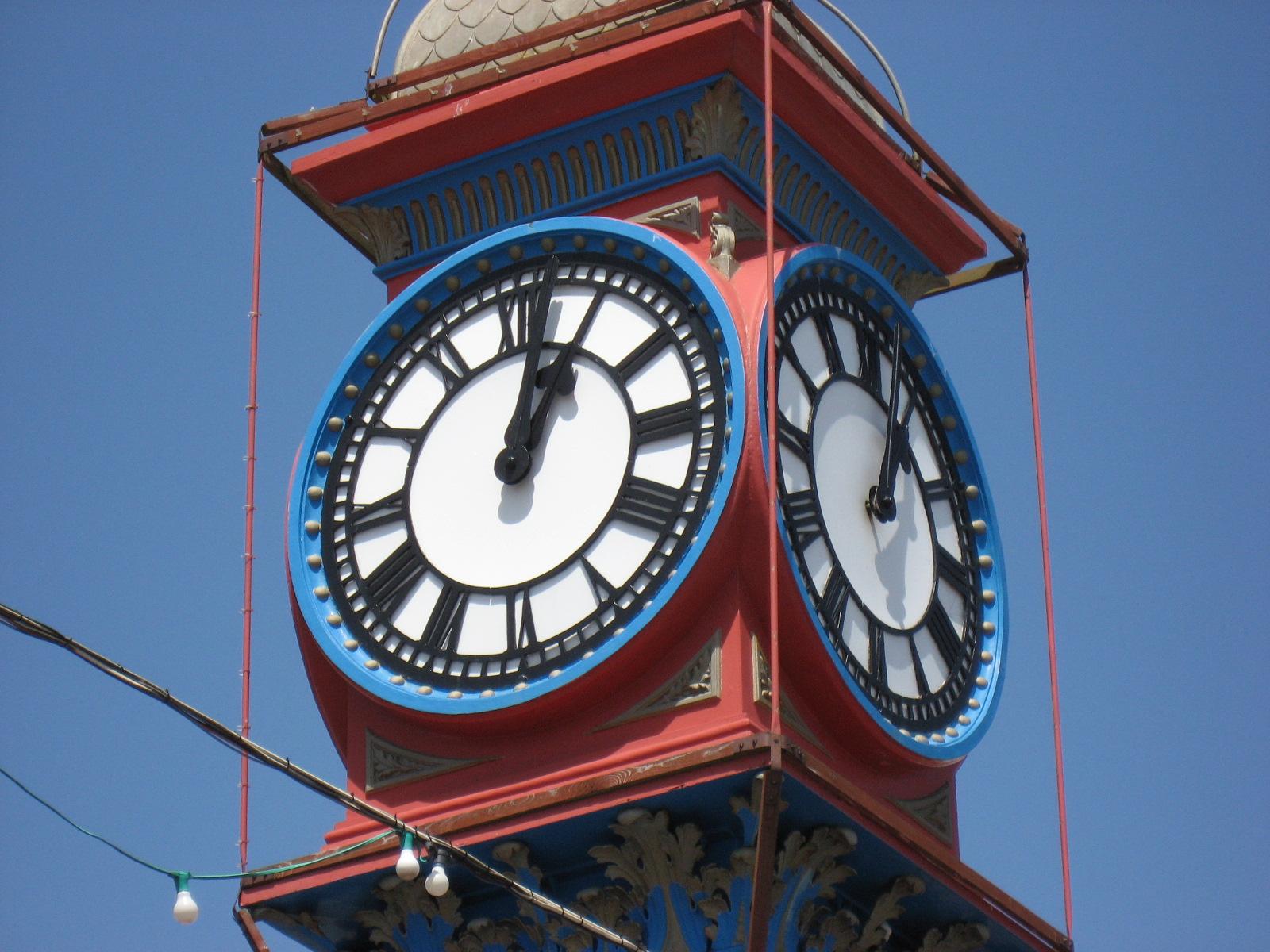 town clock face